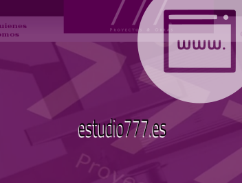 Web Estudio777 decoración